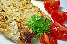 Putenschnitzel mit Cashewkruste