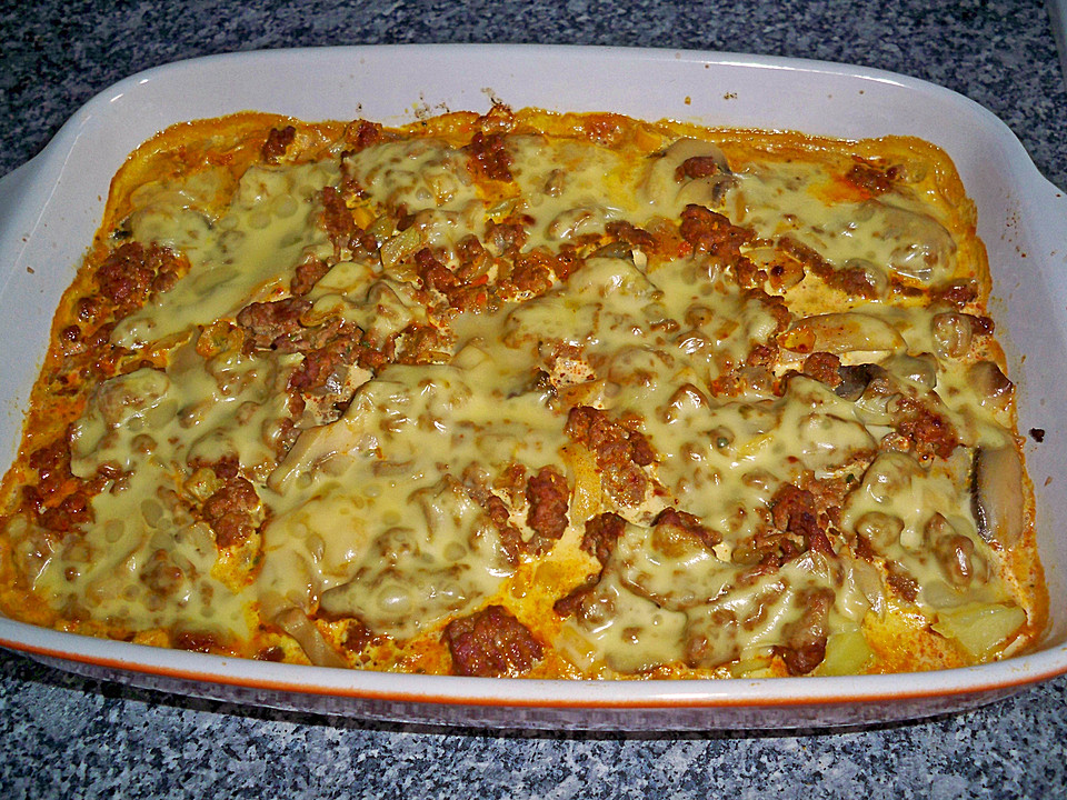 Rezept backofen hackfleisch kartoffelauflauf for Kochen mit hackfleisch