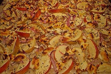 Flammkuchen mit Apfel 2