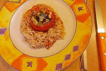 Gefüllte Tomaten auf Reis 2
