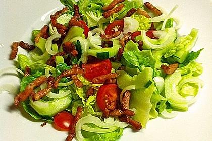salat mit gebratenen sesam honig mini kn deln und bacon rezept mit bild. Black Bedroom Furniture Sets. Home Design Ideas