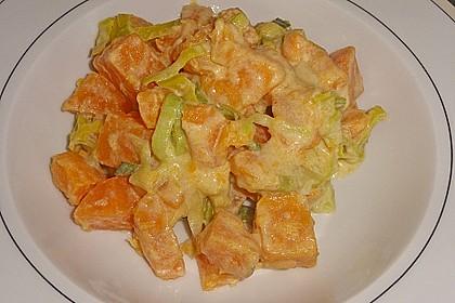 Süßkartoffel-Lauch-Pfanne 4