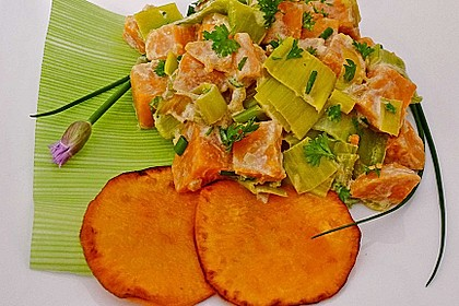 Süßkartoffel-Lauch-Pfanne