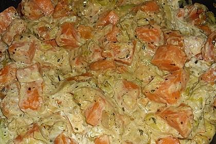 Süßkartoffel-Lauch-Pfanne 8