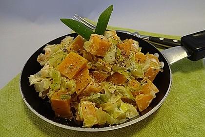 Süßkartoffel-Lauch-Pfanne 7