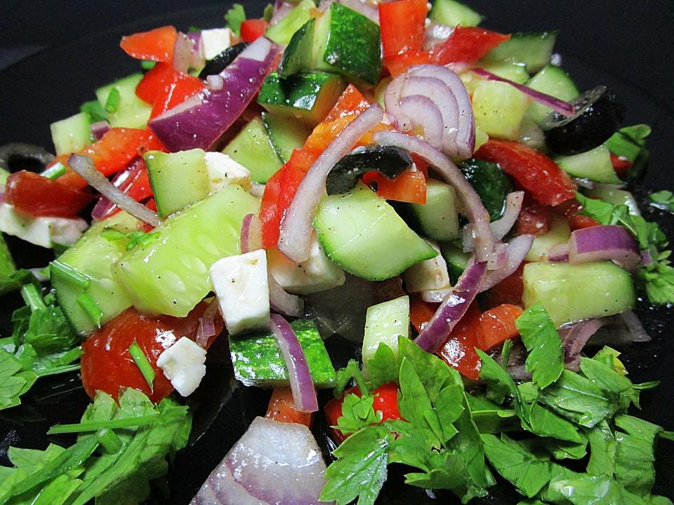 griechischer salat gurke tomate rezepte. Black Bedroom Furniture Sets. Home Design Ideas