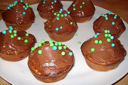 Banana-Cupcakes mit Philadelphia-Schokoladen-Haube 2