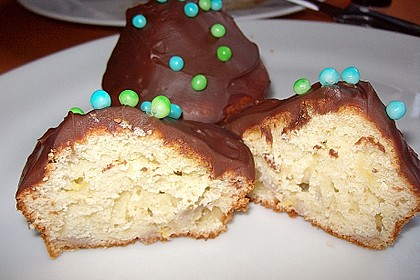 Banana-Cupcakes mit Philadelphia-Schokoladen-Haube 1