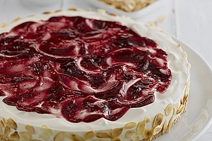 Philadelphia Torte Preiselbeer-Mandel