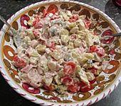 Bratkartoffelsalat mit Champignons & Schinken