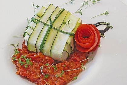 Ziegenfrischkäse im Zucchinimantel 1