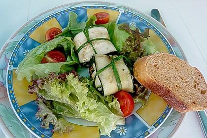 Ziegenfrischkäse im Zucchinimantel 9