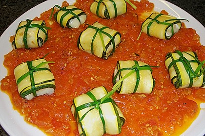 Ziegenfrischkäse im Zucchinimantel 20