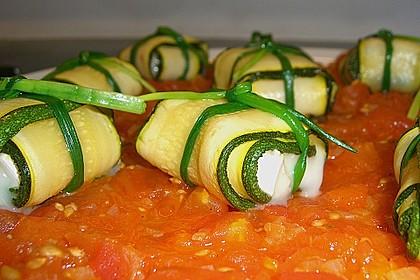 Ziegenfrischkäse im Zucchinimantel 12