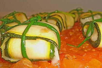 Ziegenfrischkäse im Zucchinimantel 13