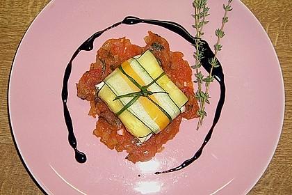 Ziegenfrischkäse im Zucchinimantel 10