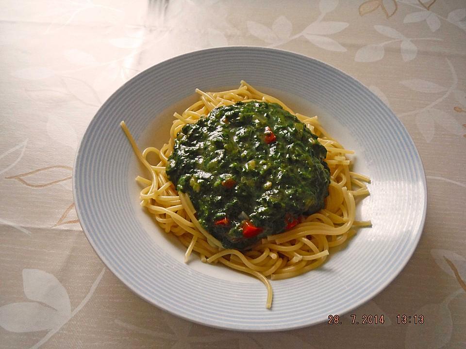 spaghetti mit spinat von romeo02silke. Black Bedroom Furniture Sets. Home Design Ideas