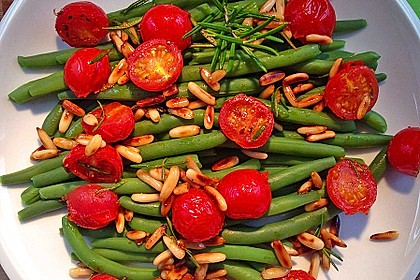 Antipasti mit grünen Bohnen und Pinienkernen 1