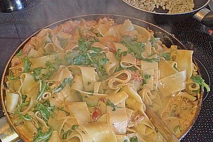 Pasta mit Rucola, Mascarpone und Parmaschinken 19