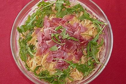Pasta mit Rucola, Mascarpone und Parmaschinken 20