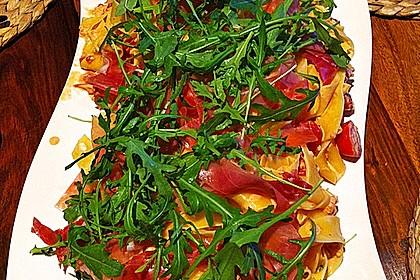Pasta mit Rucola, Mascarpone und Parmaschinken 5