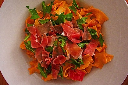 Pasta mit Rucola, Mascarpone und Parmaschinken 7