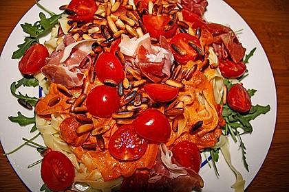 Pasta mit Rucola, Mascarpone und Parmaschinken 14