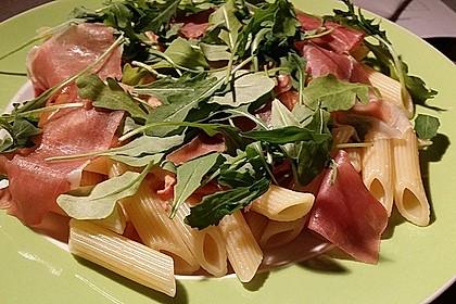 Pasta mit Rucola, Mascarpone und Parmaschinken 15
