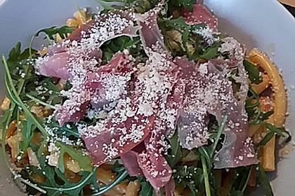 Pasta mit Rucola, Mascarpone und Parmaschinken 21