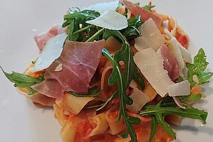 Pasta mit Rucola, Mascarpone und Parmaschinken 2
