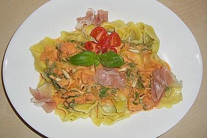 Pasta mit Rucola, Mascarpone und Parmaschinken 22