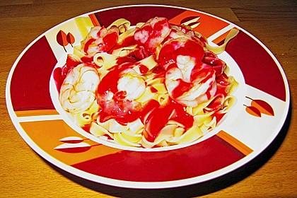 Garnelen in scharfer Johannisbeer - Sauce 7