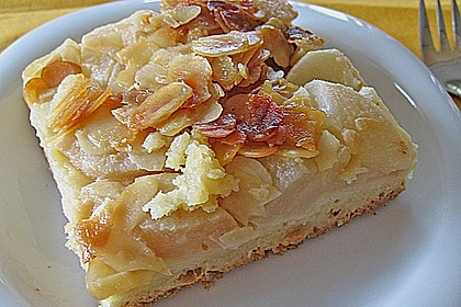 Apfel - Birnen Kuchen Florentiner Art