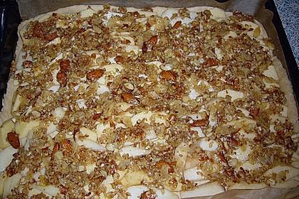 Apfel - Birnen Kuchen Florentiner Art 3