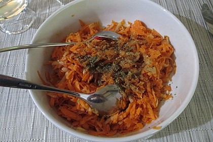 Karottensalat mit Meerrettich - Sahne (Bild)