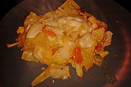 Weißkohl-Lasagne 2