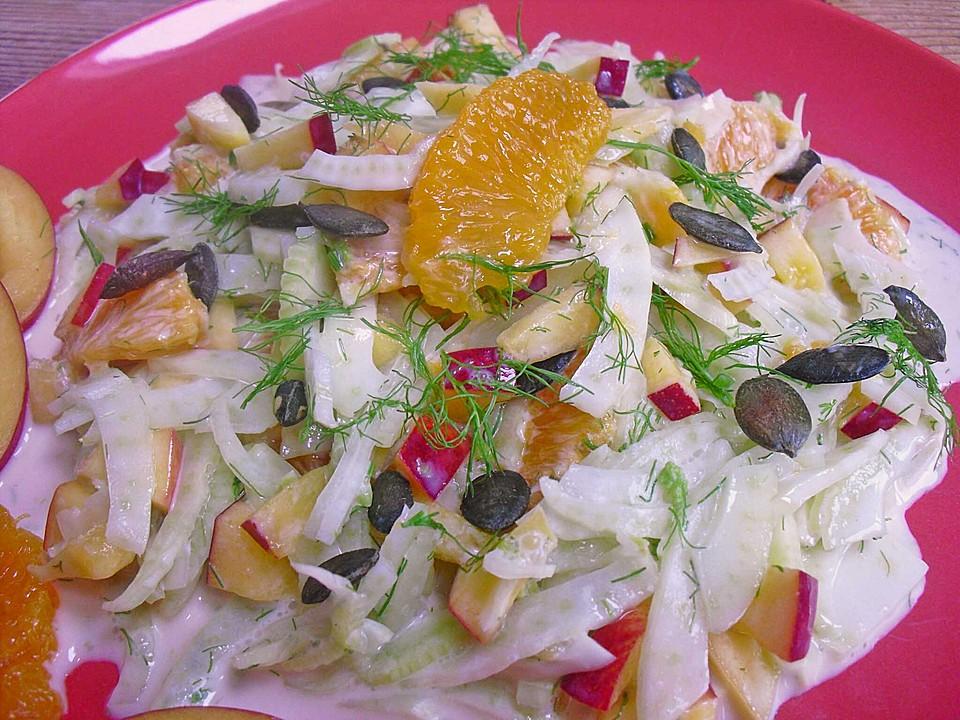 fenchel nektarinen salat rezept mit bild von saturnia. Black Bedroom Furniture Sets. Home Design Ideas