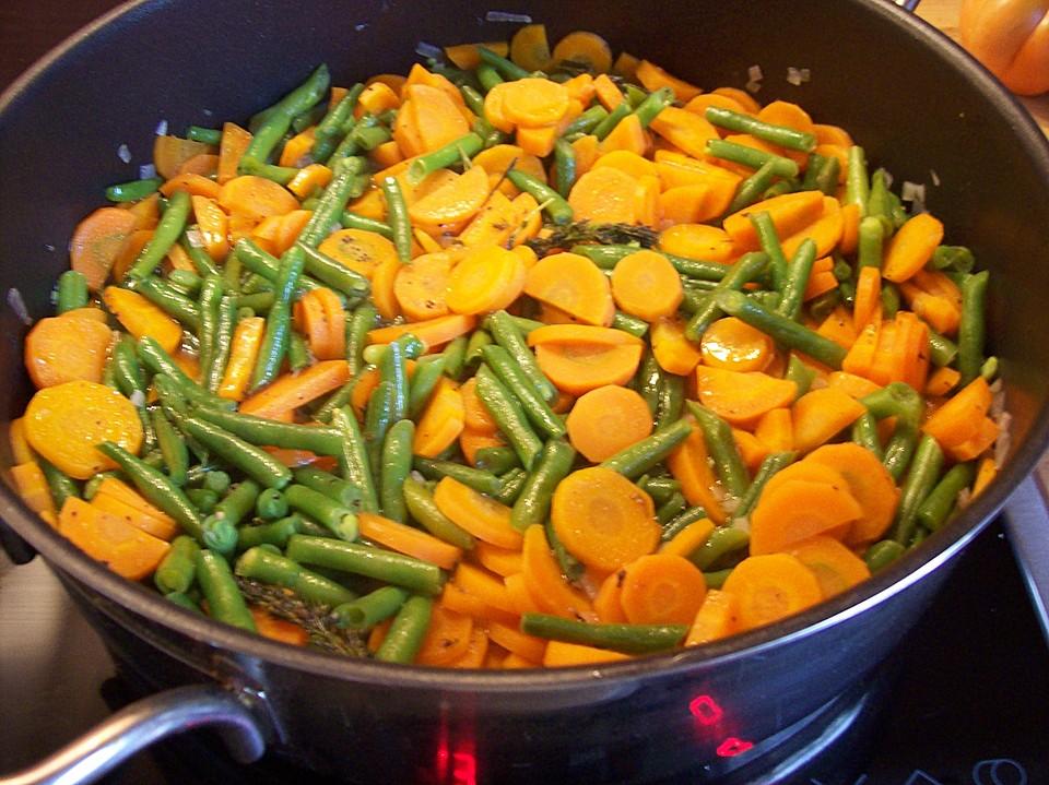 Bohnen karotten gem se rezept mit bild von riga53 - Karotten kochen ...
