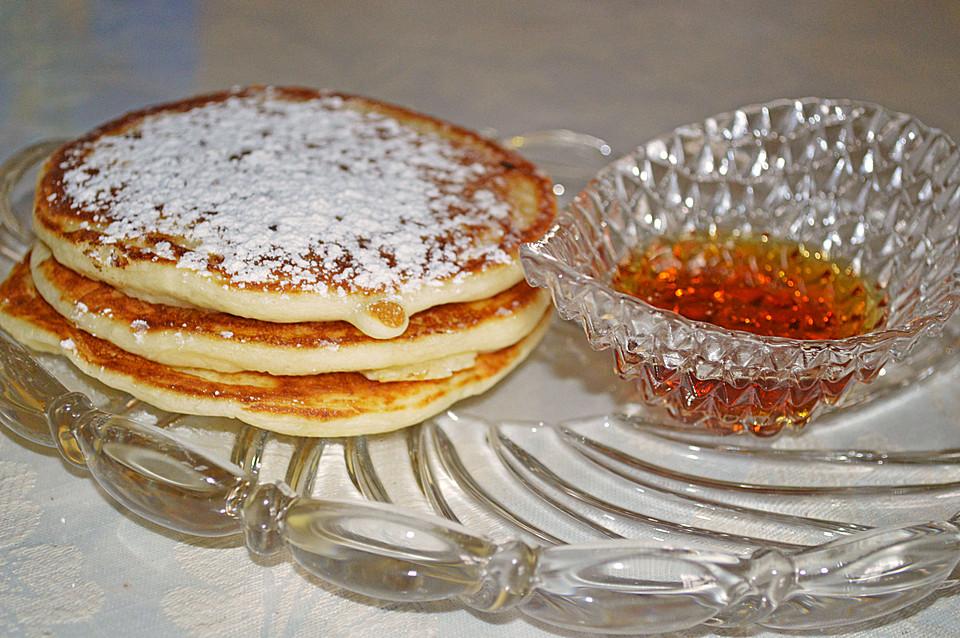 amerikanische buttermilch pancakes rezept mit bild. Black Bedroom Furniture Sets. Home Design Ideas
