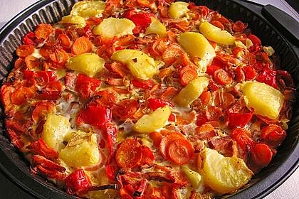 Kartoffel-Gemüsetortilla mit Kräuterquark 3