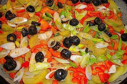 Kartoffel-Gemüsetortilla mit Kräuterquark 1