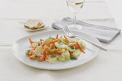 Miracel Whip Kartoffelsalat mit Flusskrebsen und karamellisierten Karotten