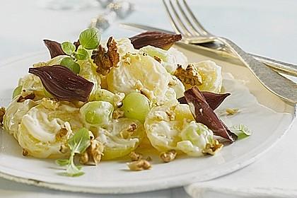 Festlicher Miracel Whip Kartoffelsalat mit Rotweinschalotten