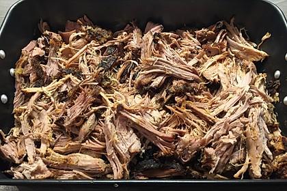 Pulled Pork, zarter Schweinebraten aus dem Ofen - fast original, nur ohne Grill 13