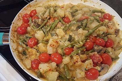 Zucchini-Kohlrabi-Pfanne mit Tomaten und Tofu 1
