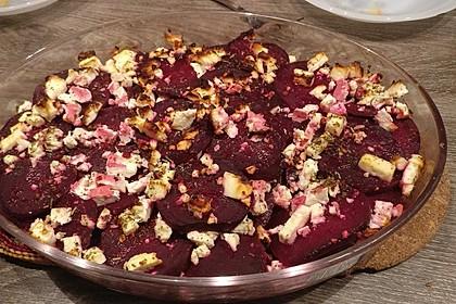 Rote Bete Lasagne mit Feta und Honig 3