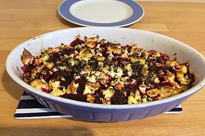 Rote Bete Lasagne mit Feta und Honig 9