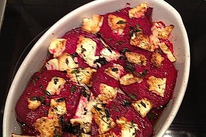 Rote Bete Lasagne mit Feta und Honig 5