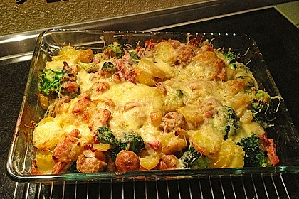 Kartoffel-Raclette Auflauf mit Kassler