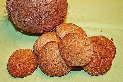 Kokos-Amaranth-Plätzchen